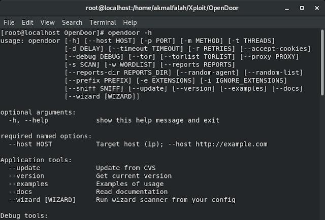 Scan Directory dan Files Website dengan OWASP OpenDoor - TKJ Cyber Art - _Tuan2Fay_