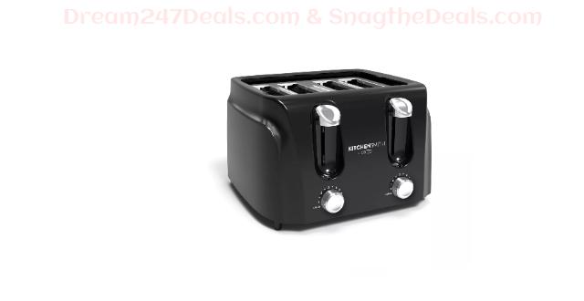 KitchenSmith 4 Slice Toaster - Black