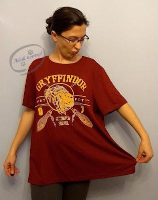 Adzik tworzy - DIY bluzka trapezowa z przeróbki t-shirtu