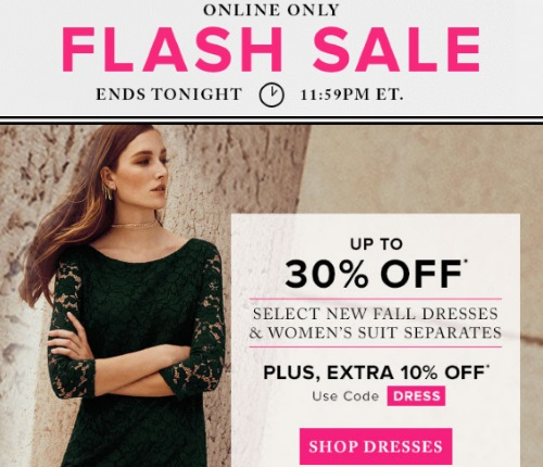 Hudson's Bay Flash Sale Up To 30% Off Fall Dresses, Suits & Separates + Extra 30% Off Promo Code
