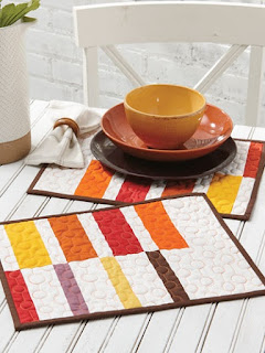 Fall Colors for Quilt Placemats