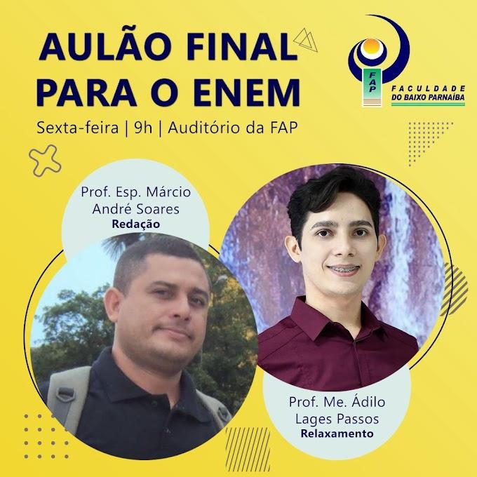 """FAP realiza amanhã """"Aulão Grátis"""" para o ENEM, faça sua inscrição e participe."""