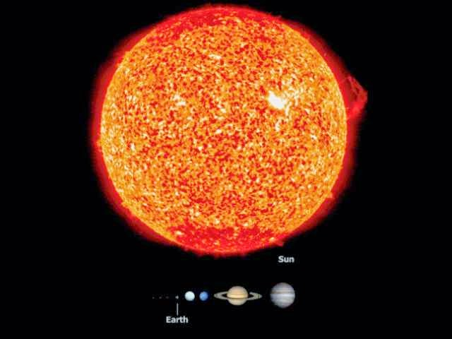 The Size Of Space As Depicted Here Is Truly Mind-Blowing - No wonder this keeps us warm. The Sun is giant. It is almost perfectly spherical and consists of hot plasma interwoven with magnetic fields.