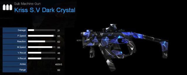 Detail Statistik Kriss S.V Dark Crystal