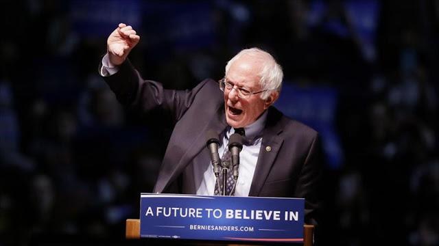 Sanders apoya protestas anti-Trump y cuestiona sistema electoral