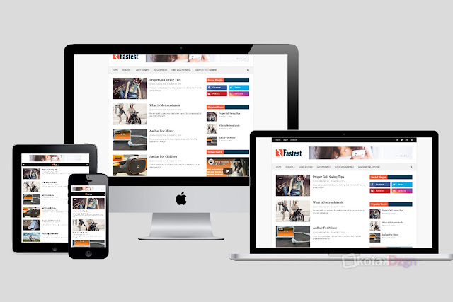 Faster Fast Loading Blogger Template (Redesign Blogger Template Free)