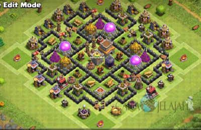 Base Hybrid TH 8 Clash Of Clans Terbaru Tipe 25