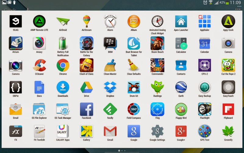 Launcher Android 5.0 Lollipop drawer