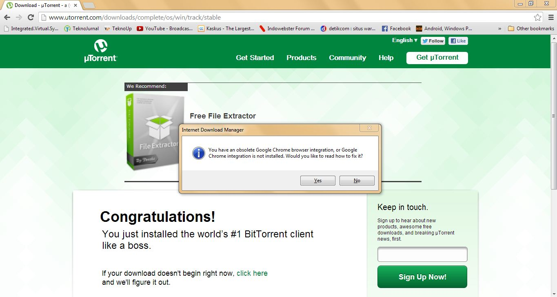 Cara Install/Memperbaiki Ekstensi IDM di Google Chrome Baru