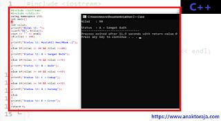Contoh Program IF ELSE IF C++