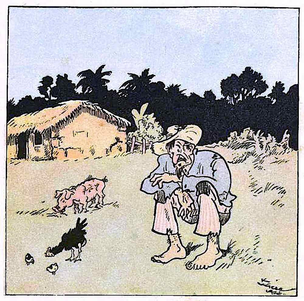 a 1924 Brazil childrens book, a poor sad farmer