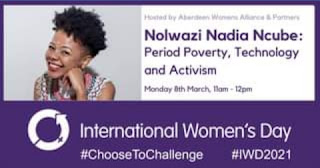 Poster for IWD event