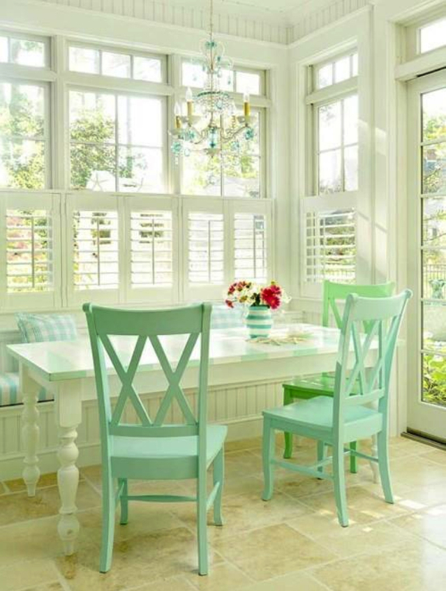 Pastel Tone Good Color To Paint A Kitchen: Mint Green
