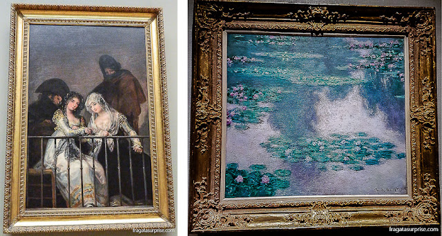 Majas em um Balcão, de Goya, e Ninfeias, de Monet, Metropolitan Museum, Nova York