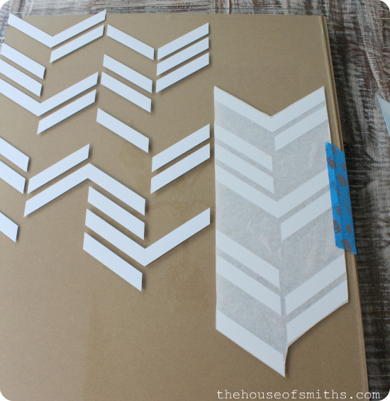 Scattered Herringbone Vinyl Decal Wall Art - DIY wall art - thehouseofsmiths.com