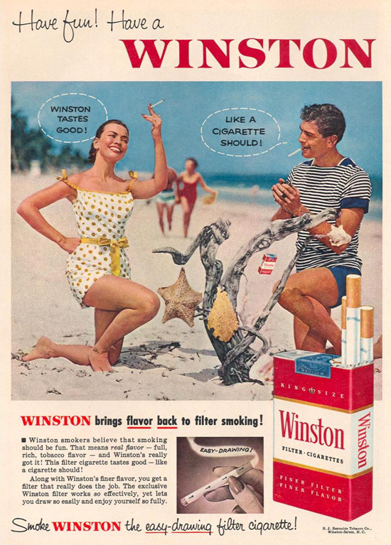 Winston advertisement 1955 - couple - B