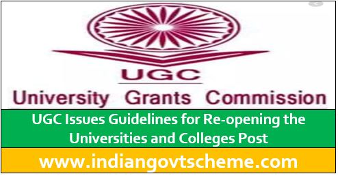 UGC Issues Guidelines for Re-opening