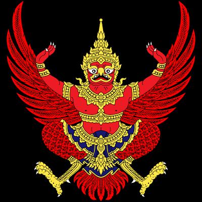Coat of arms - Flags - Emblem - Logo Gambar Lambang, Simbol, Bendera Negara Thailand