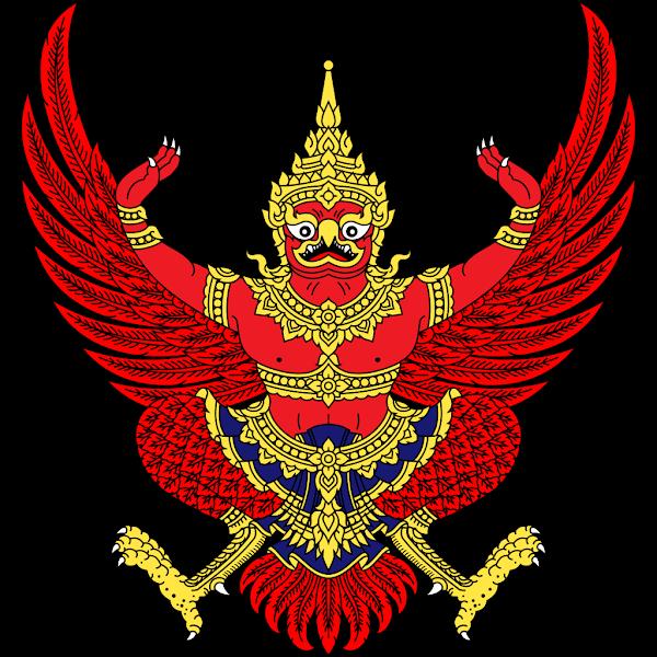 Logo Gambar Lambang Simbol Negara Thailand PNG JPG ukuran 600 px