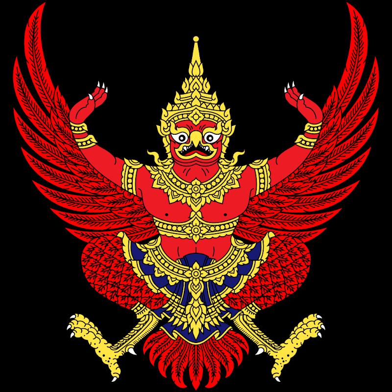 Logo Gambar Lambang Simbol Negara Thailand PNG JPG ukuran 800 px