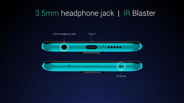 Redmi Note 9 Pro Max 3.5mm headphone jack