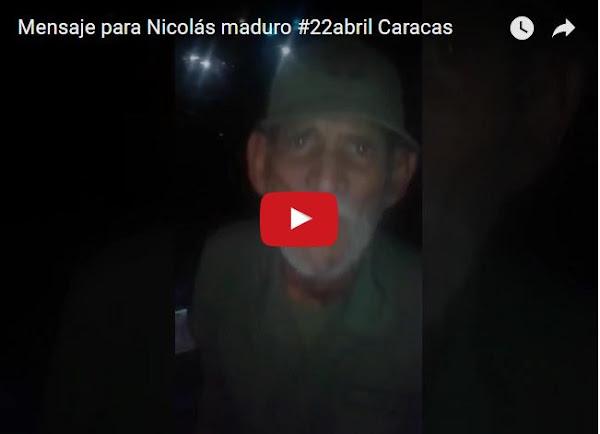 Jefe de los milicianos le envía un mensaje a Nicolás Maduro