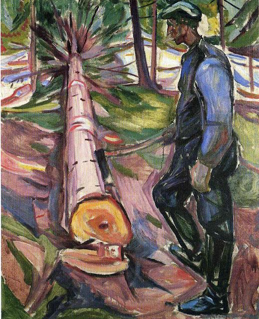 Эдвард Мунк - Дровосек. 1913