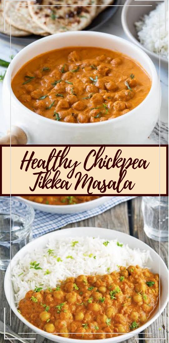 Healthy Chickpea Tikka Masala #dinnerrecipe #food #amazingrecipe #easyrecipe