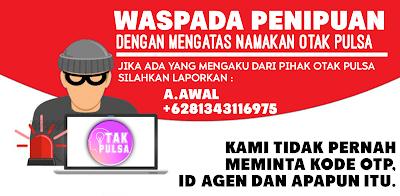 Waspada!!! Penipuan via SMS/Telepon/whatsapp Meminta Kode OTP.
