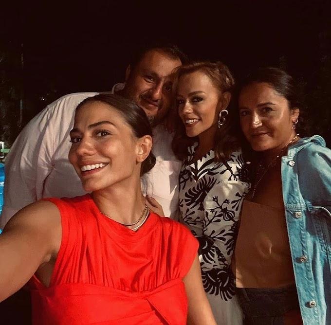 "Demet Özdemir quiets rumors after her absence at her sister Derya's wedding: ""I love you""."