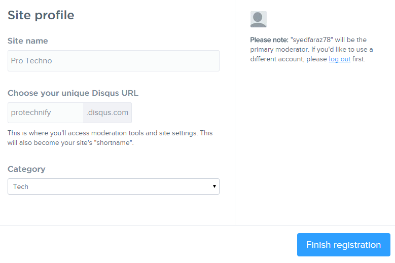 disqus form