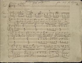Franz Schubert: Winterreise - autograph manuscript courtesy of The Morgan Library & Museum