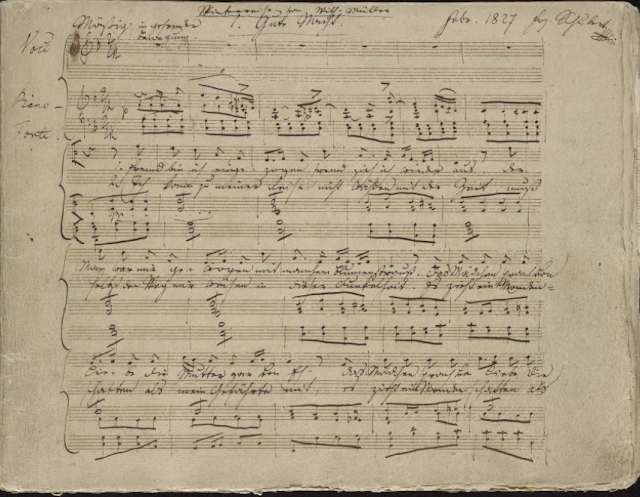 Franz Schubert: Winterreise - autograph manuscript courtesy of The Morgan Library & Museum