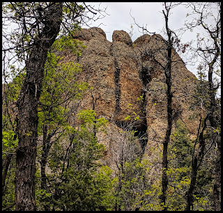 Another Cave and almost a column in the rock wall at Maple Canyon Moroni Utah