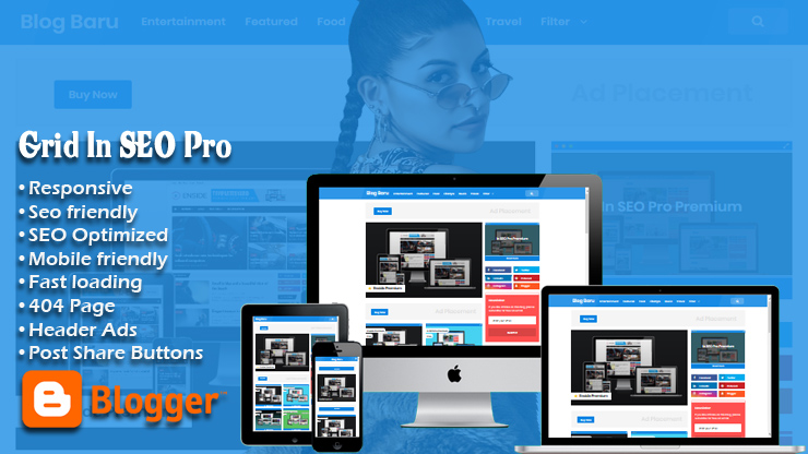 Grid In SEO Pro Responsive Blogger Template