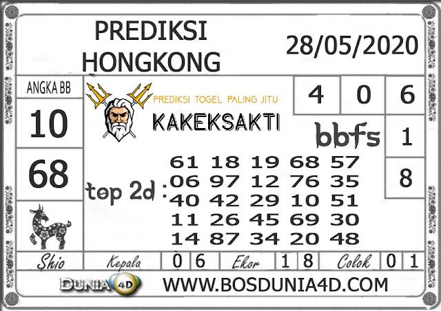 Prediksi Togel HONGKONG DUNIA4D 28 MEI 2020