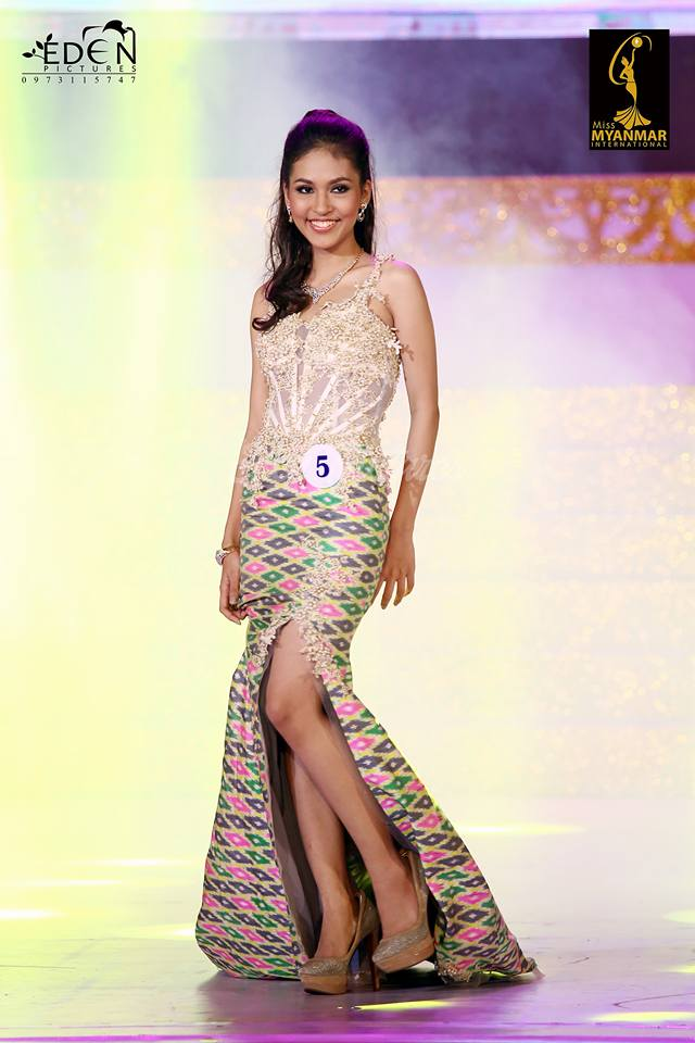 Thadar Mariah Miss Myanmar International 2015 1st Runner Up