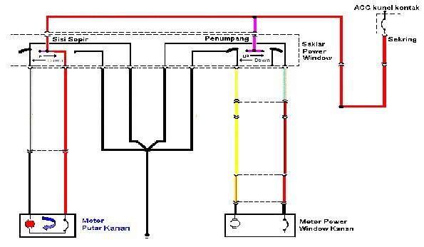 Wiring Diagram Power Window Timor
