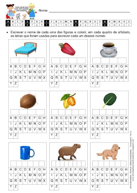 Atividades - Palavras com as sílabas CA - CO - CU jpg