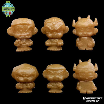 Designer Con 2018 Exclusive Hyperactive Monkey and Friends Sofubi Mini Figures