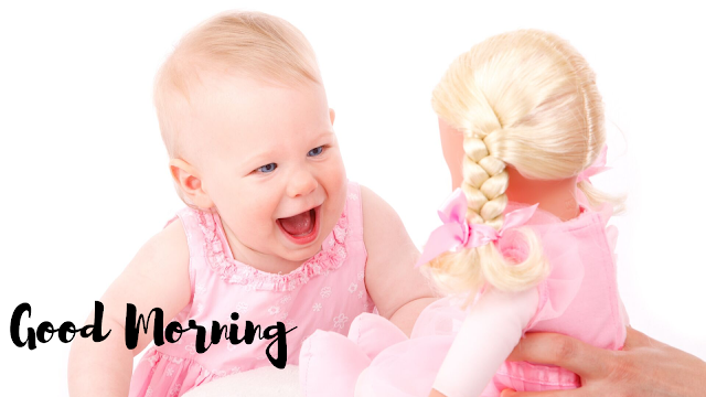 Vary vary Happy Baby with toy Good Morning Images