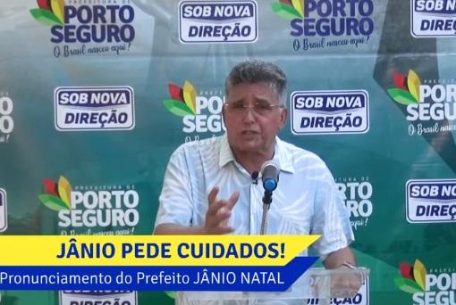 Em pronunciamento, Prefeito de Porto Seguro diz que existe milhares de pessoas passando fome na cidade,
