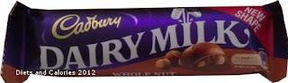 Cadbury Dairy Milk Whole Nut chocolate new style