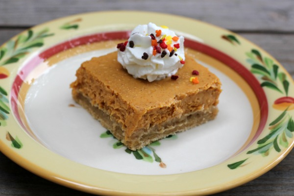 Pumpkin Cheesecake Bars with Pound Cake Crust