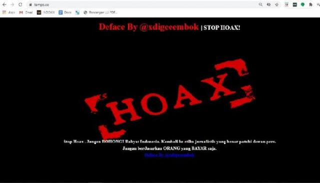 Situs Tempo Diretas, Akun Anonim Pendukung RUU Cipta Kerja Mengaku Pelakunya