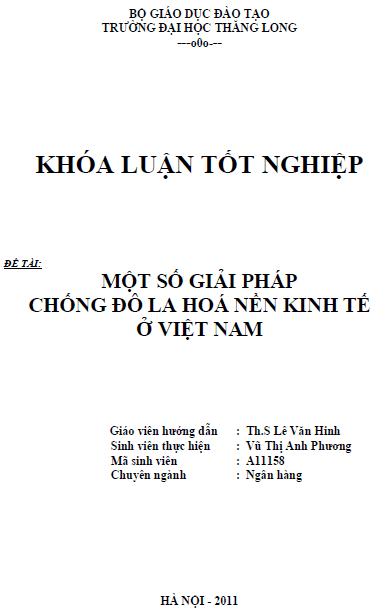 Một số giải pháp chống đô la hóa nền kinh tế ở Việt Nam