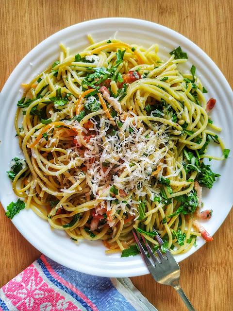 danie na obiad w 30 minut, makaron spaghetti