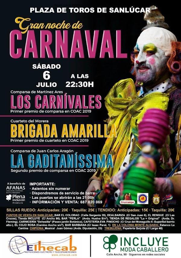 Gran noche de Carnaval hoy en Sanlucar