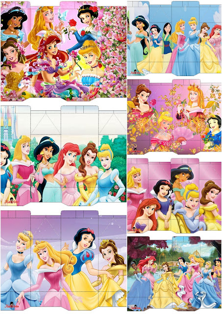 Disney Princess Free Printable Boxes.