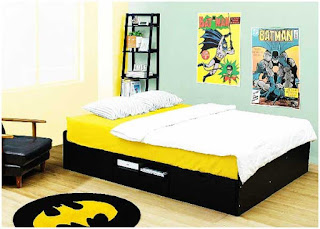 desain interior kamar tidur anak superhero batman
